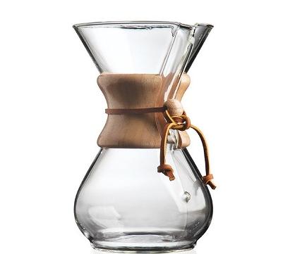 ガラス製のコーヒーメーカーの画像です