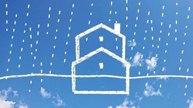 豪雨のイメージ画像です