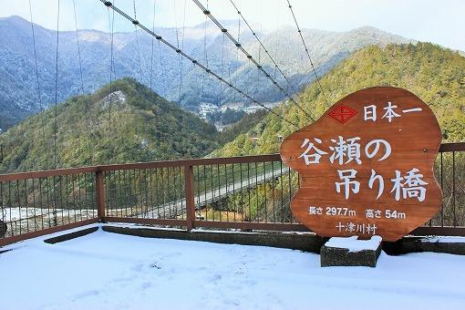 谷瀬のつり橋の画像です